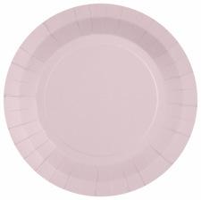 Petites Assiettes Carton Rose Pastel Etoile Doré (x6)