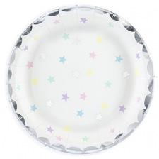 Petites Assiettes en carton Etoiles Pastel (x6)