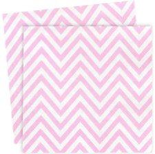 Petites Serviettes en papier Chevron Rose (x20)
