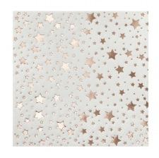 Petites Serviettes en papier Etoile Rose Gold (x20)