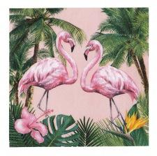 Petites Serviettes en papier Flamant Rose Tropical (x20)