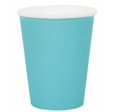 Petits gobelets en carton Bleu Bleuet (x6)
