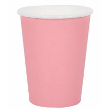 Petits gobelets en carton rose pastel (x6)