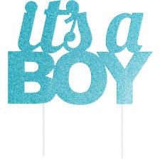 Pic à gâteaux It's a Boy Bleu Pailleté