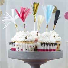 Pics Déco à gâteaux à Frange Multicolore