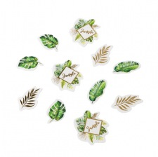 Poche de 100 Confettis de table Vert Tropical