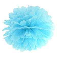 Pompon en Papier de soie à suspendre Bleu Ciel