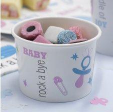 Pots à glace Rose & Bleu Bébé (x8)