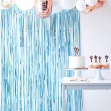 Rideau à frange scintillant Bleu