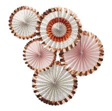 Rosaces à suspendre Rose Gold Métallisé (x5)