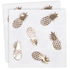 Serviettes en papier Ananas Or (x16)