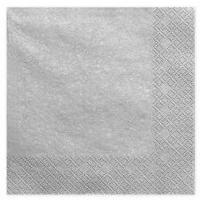 Serviettes en papier Argent Métal Uni (x20)
