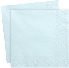 Serviettes en papier Bleu Pastel Uni (x20)