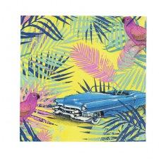 Serviettes en papier feuillage tropical (x20)