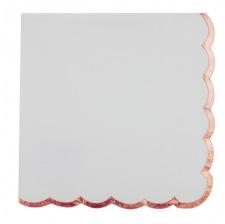 Serviettes en papier Lisière Rose Gold (x16)
