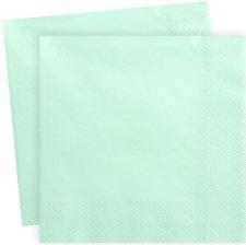 Serviettes en papier Mint Clair Uni (x20)