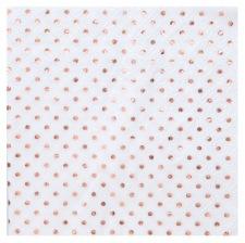 Serviettes en papier Pois Rose Gold (x16)
