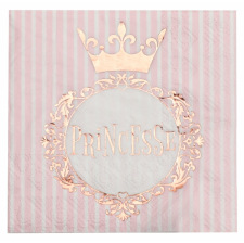 Serviettes en papier Princesse Rose & Or (x16)