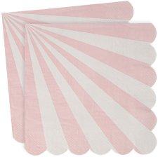 Serviettes en papier à Rayure Rose Meri Meri (x20)