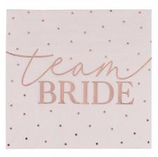 Serviettes en papier Team Bride Rose Gold (x16)