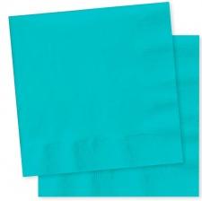 Serviettes en papier Turquoise Uni (x20)