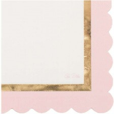 Serviettes Papier So Chic Rose & Or (x16)