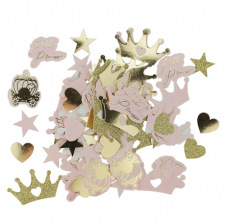 Tube de Confettis de table Paillettes Rose & Or