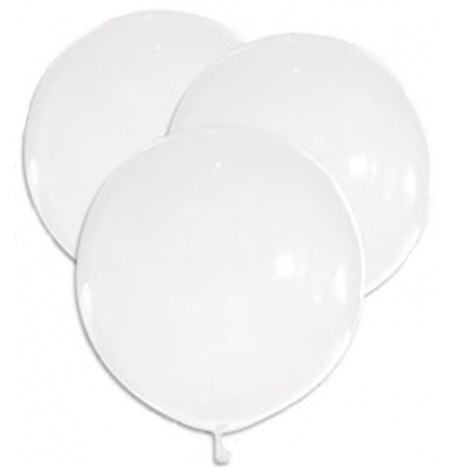 5 Grands Ballons Latex Blanc 47 cm  | Hollyparty