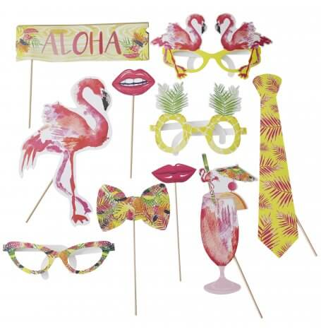 Accéssoires Photobooth Flamant Rose (x10)| Hollyparty