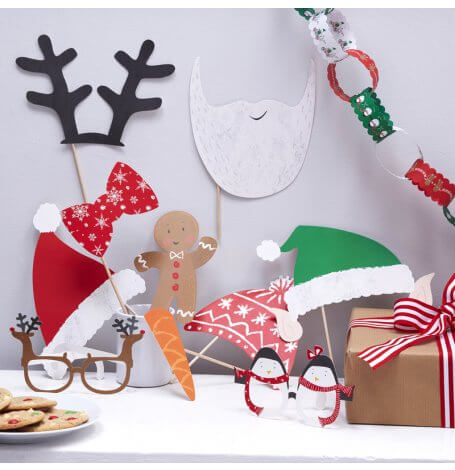 Accéssoires Photobooth Noel Santa (x10)  Hollyparty