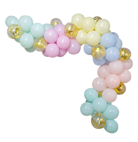 Arche de Ballon Organique Pastel & Doré | Hollyparty