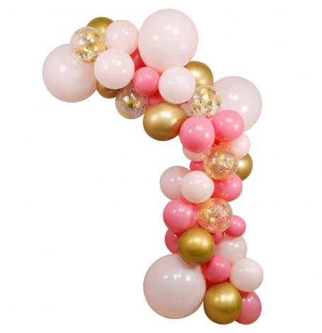 Arche de Ballon Organique Rose & Or | Hollyparty