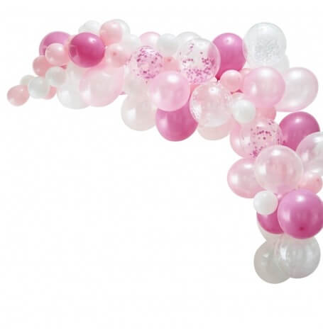 Arche de Ballon Organique Rose (x60)