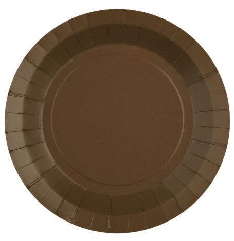 Assiettes biodégradable Chocolat (x10)| Hollyparty