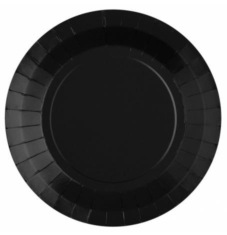 Assiettes Biodégradable Noir (x6)| Hollyparty