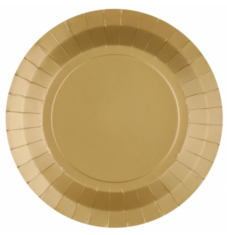 Assiettes biodégradable Or Champagne (x10)| Hollyparty