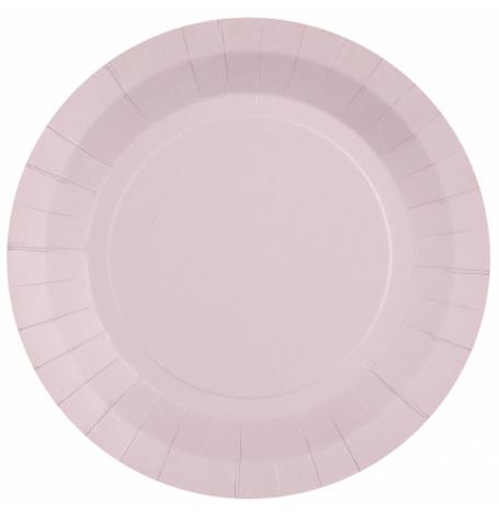 Assiettes biodégradable Rose Dragées (x6)| Hollyparty