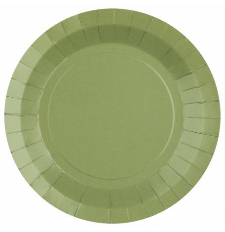 Assiettes biodégradable Vert Eucalyptus (x10)  Hollyparty