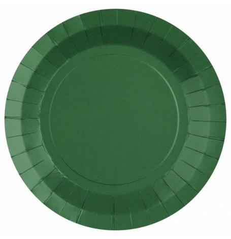 Assiettes biodégradable Vert Forêt  (x10)  Hollyparty