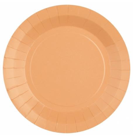 Assiettes Biodégradables Pêche (x10)| Hollyparty