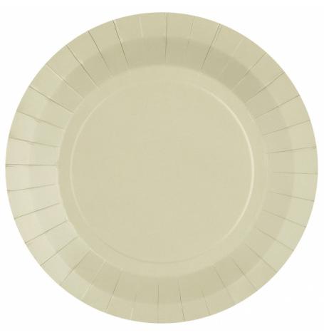 Assiettes biodégradables Sable (x10)  Hollyparty