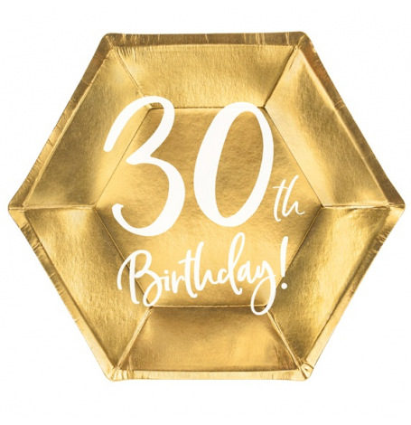 Assiettes cartons Anniversaire 30 ans (x6)| Hollyparty