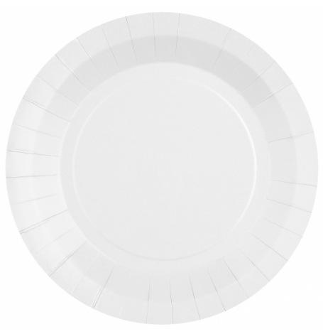 Assiettes en carton Blanc Laqué (x10)| Hollyparty