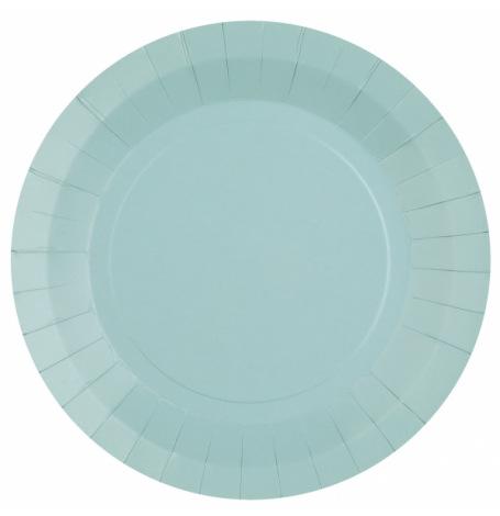Assiettes en carton Bleu Azur (x6) | Hollyparty