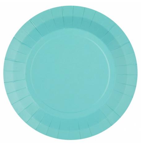 Assiettes en carton Bleu Poudré (x10)| Hollyparty