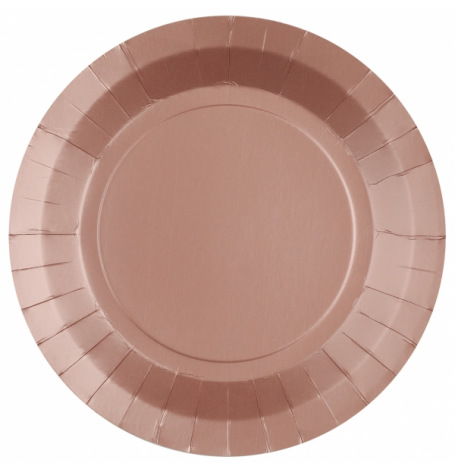 Assiettes en carton Etoile Rose Gold (x4)  Hollyparty