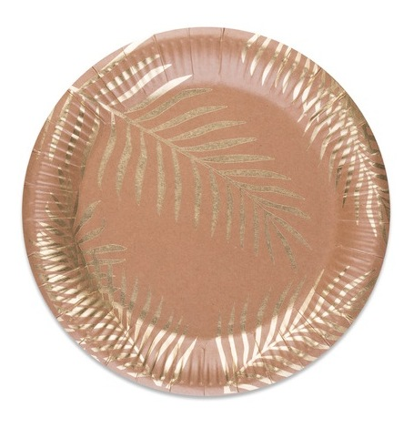 Assiettes en carton Feuillage Tropical Chic (x8)| Hollyparty