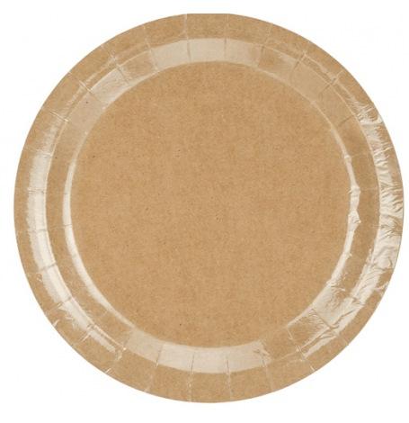 Assiettes en carton Kraft Uni (x6)| Hollyparty