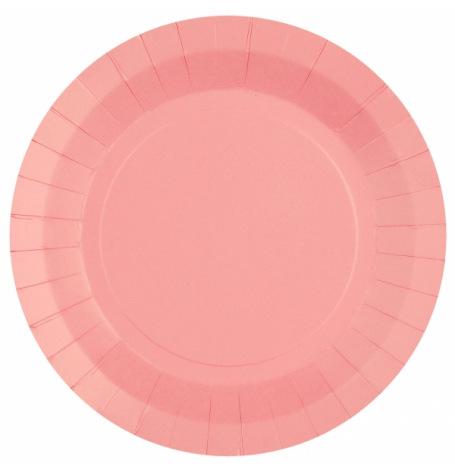 Assiettes en carton rose pastel (x6)| Hollyparty