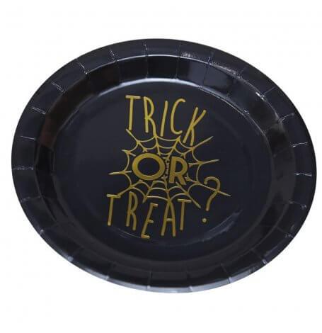 Assiettes en carton Toile d'araignée Halloween (x8)  Hollyparty